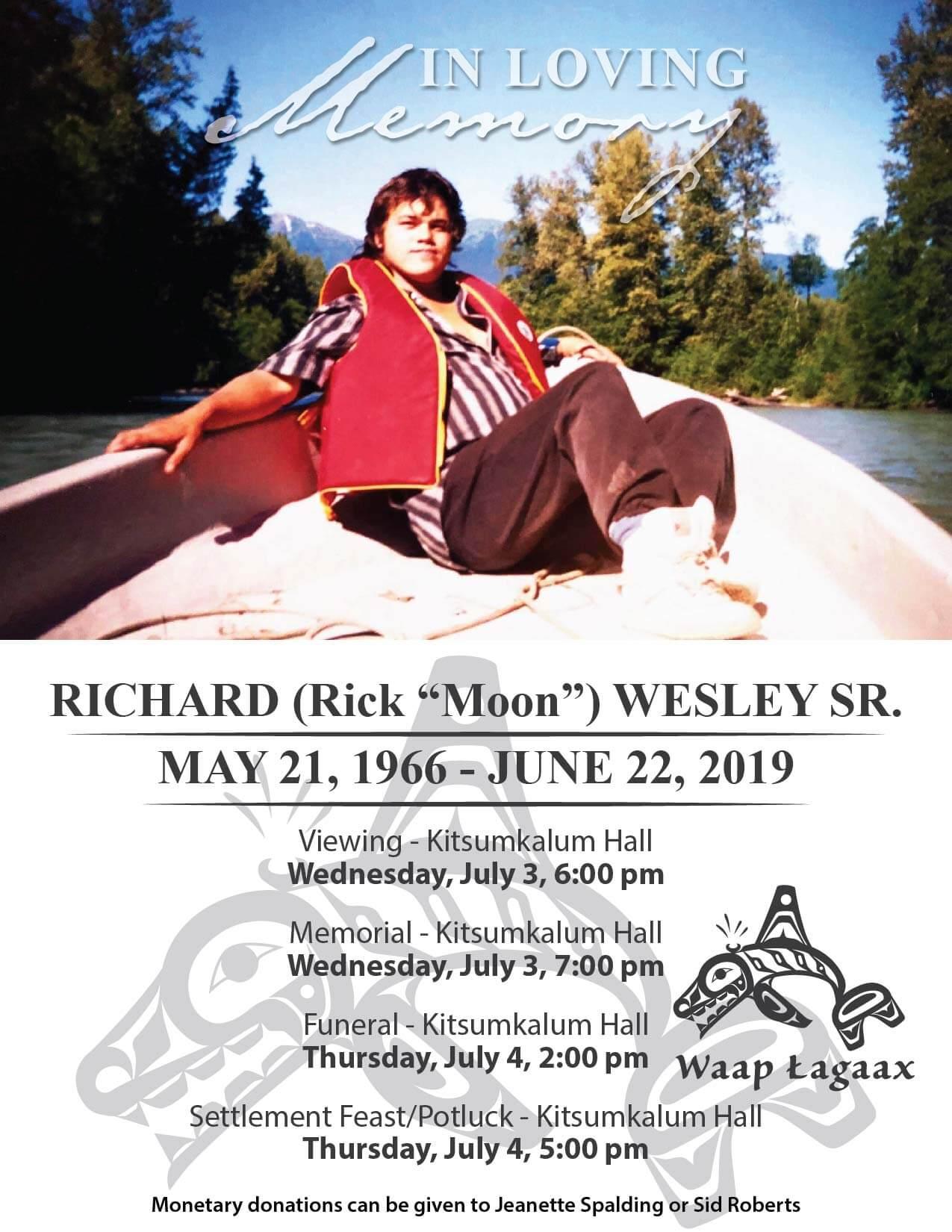Arrangements for Richard Wesley Sr