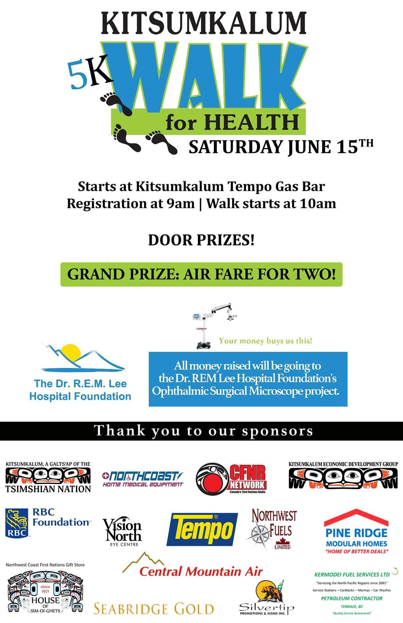 2nd Annual Kitsumkalum Walk For Health JUNE 15