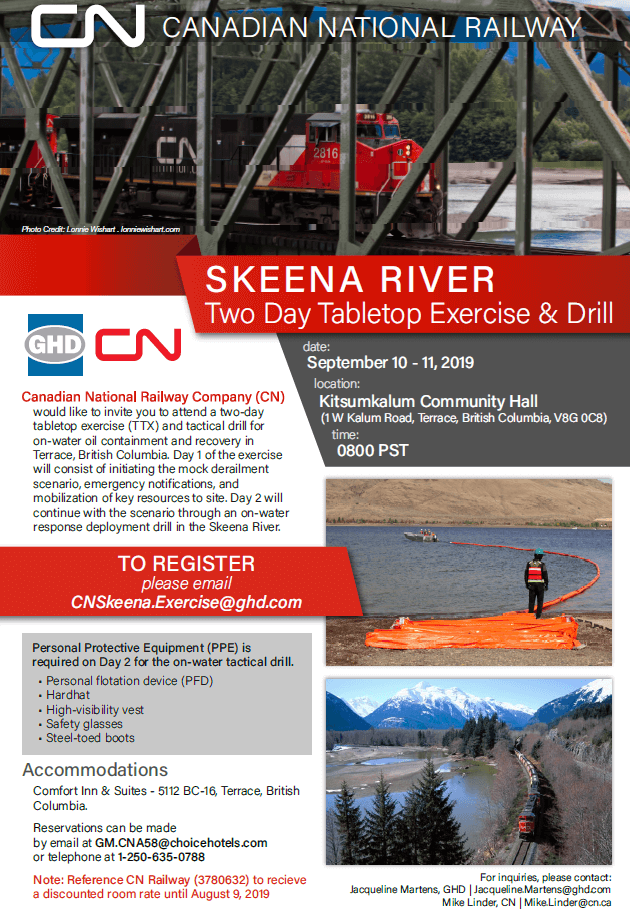 Skeena River Two Day Tabletop Exercise & Drill