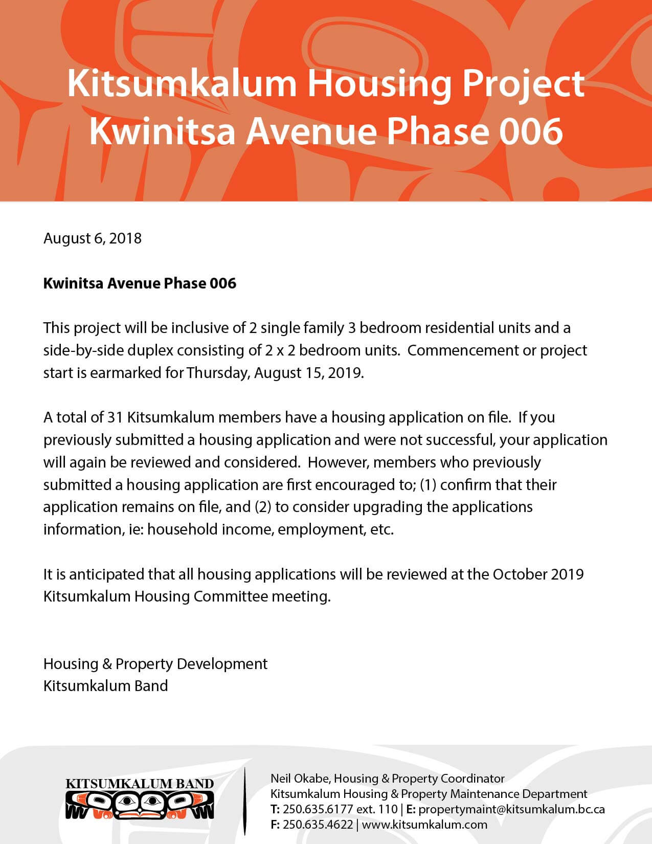 Kwinitsa Phase 006 – Kitsumkalum Housing Project