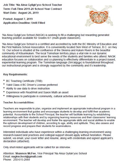 Employment & Training Services   Kitsumkalum, a Tsimshian ...