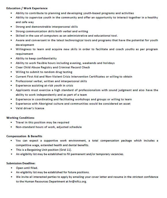 Youth Worker Job Opportunity with NIFCS | Kitsumkalum, a