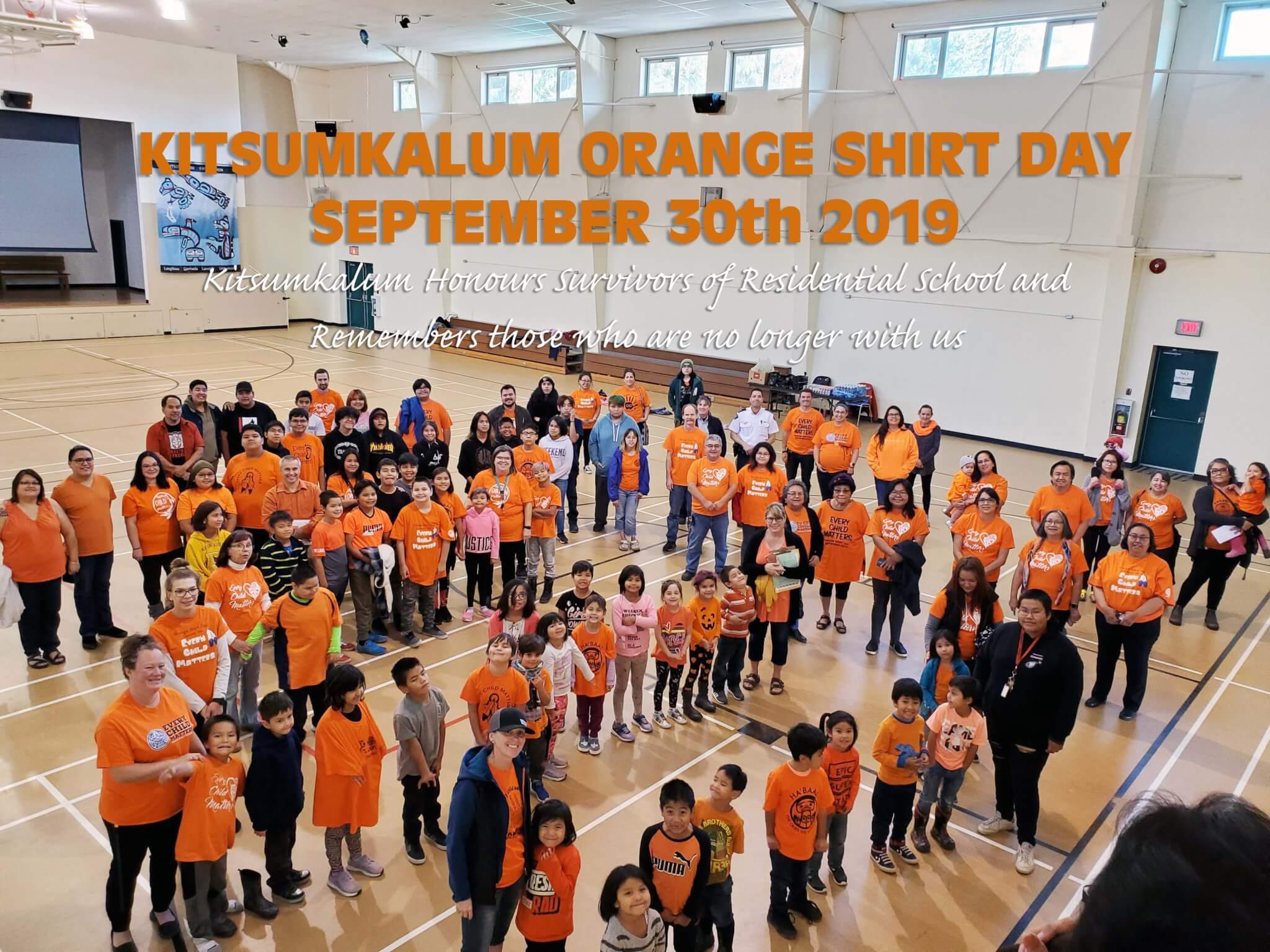 Kitsumkalum Honours Orange Shirt Day September 30th