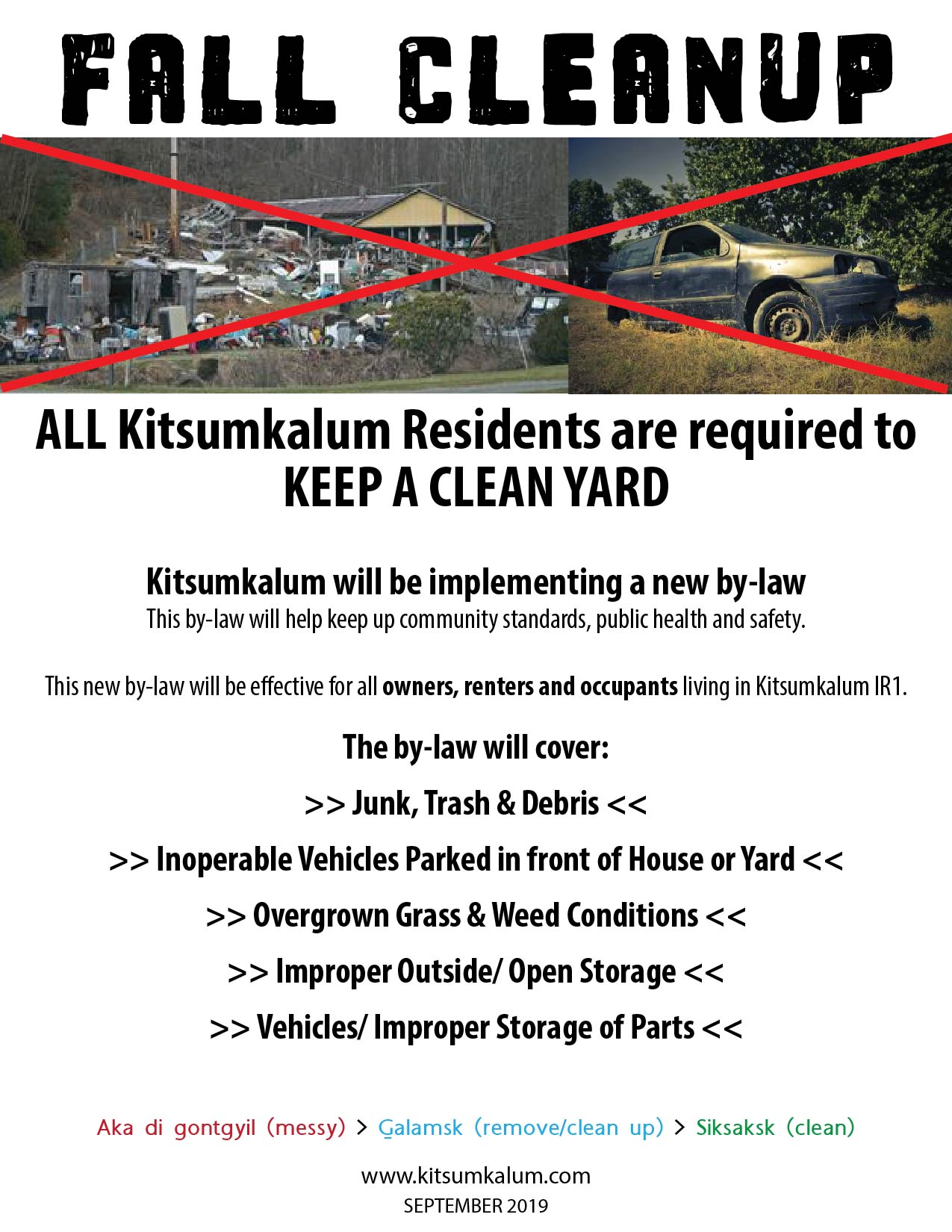 Kitsumkalum Fall Cleanup 2019