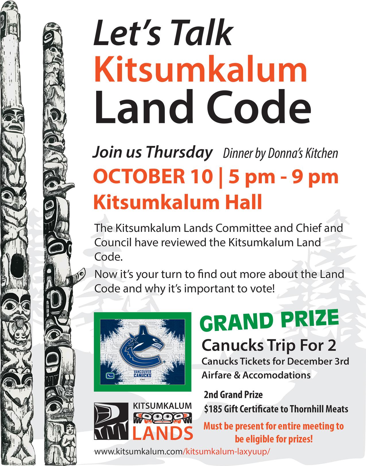 Let's Talk Land Code OCT 10