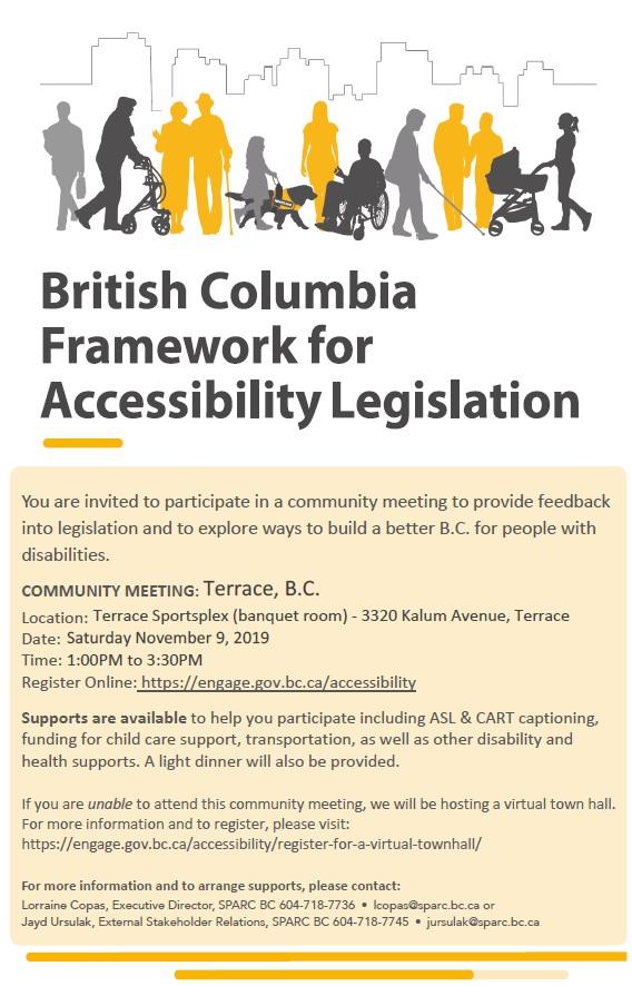 BC Framework of Accessibility Legislation Meeting NOV 9