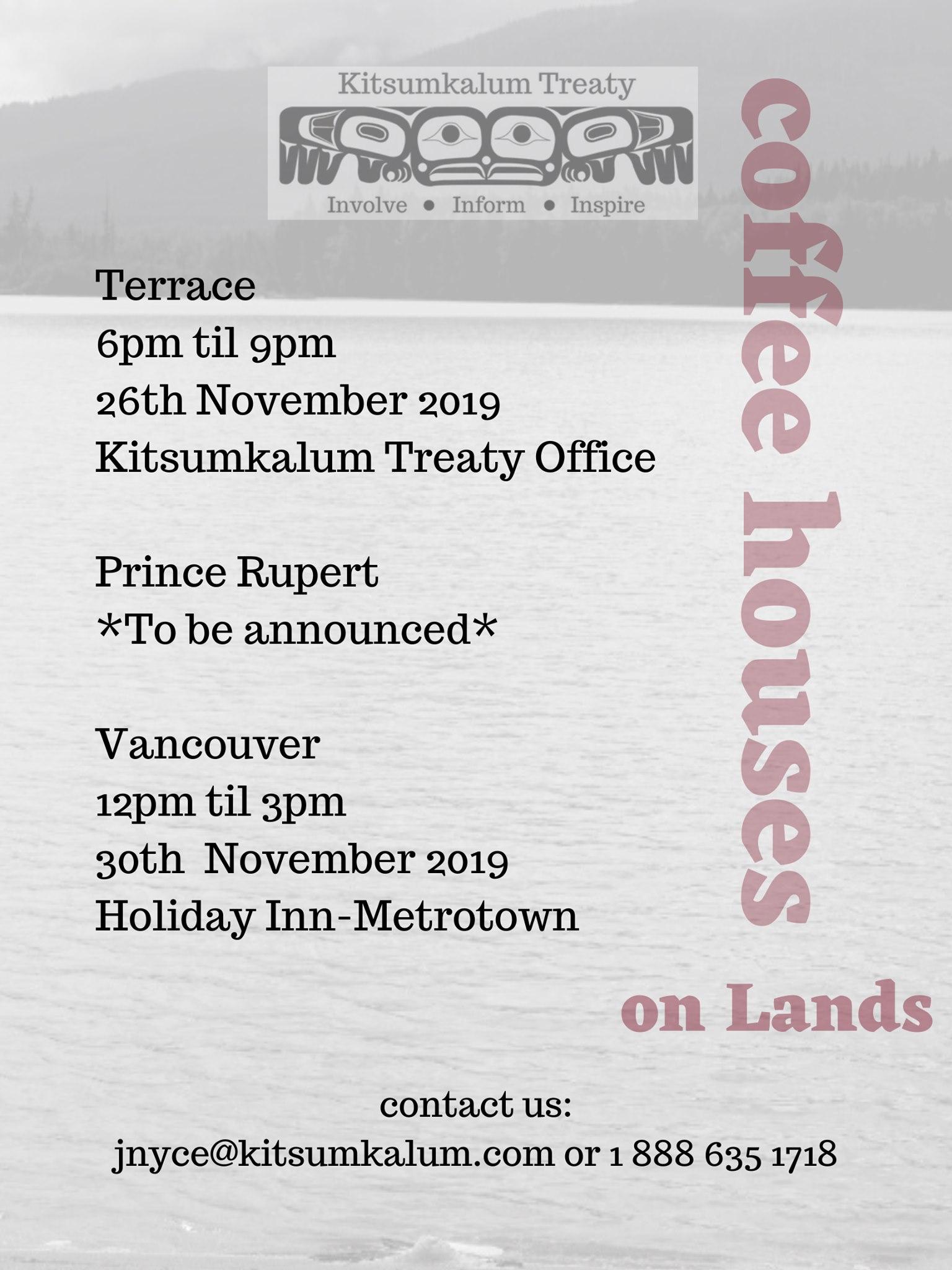 Treaty Coffee Houses in November