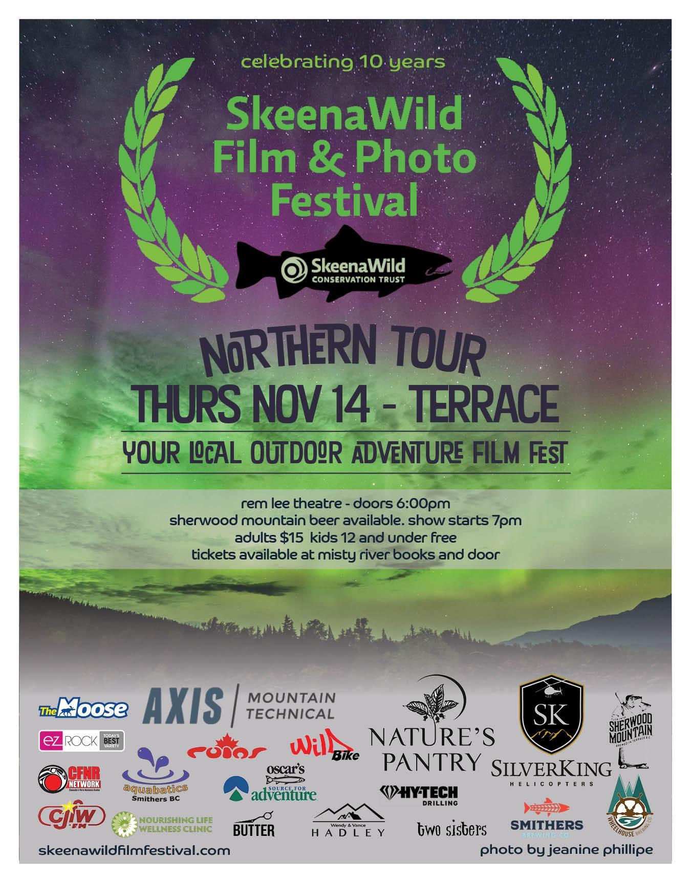 SkeenaWild Film & Photo Festival NOV 14