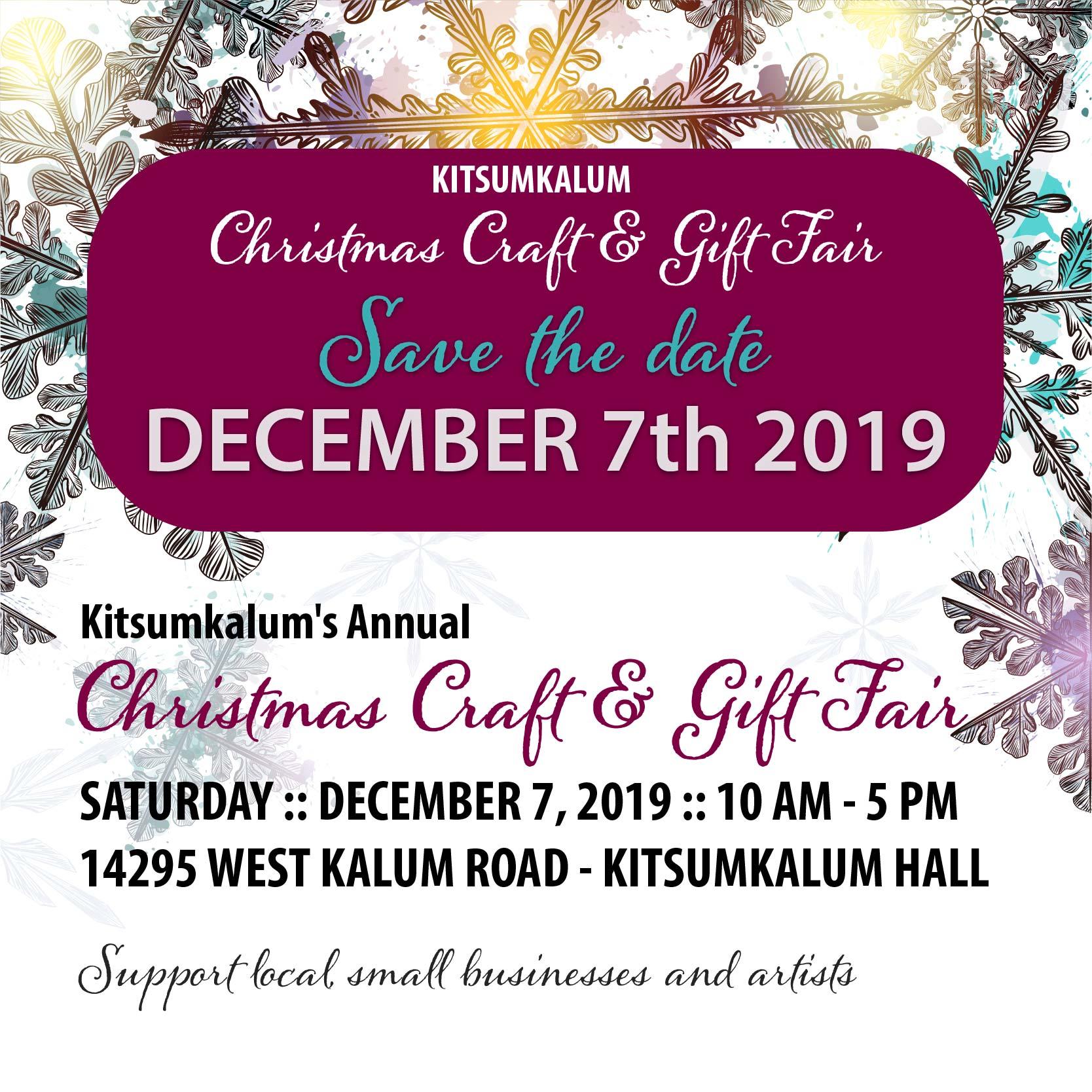 Christmas Craft & Gift Fair DEC7
