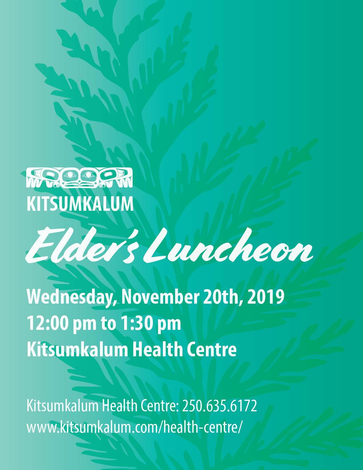 Elder's Luncheon November 20th