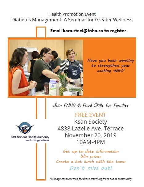 Food Skills for Families and FNHA Presents Diabetes Management Event NOV 20