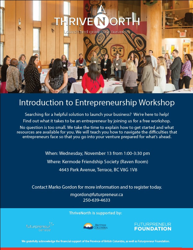 Introduction to Entrepreneurship Workshop NOV 13