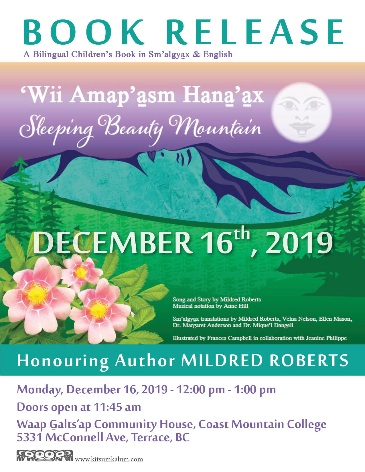 Book Release Honouring Author Mildred Roberts DEC 16