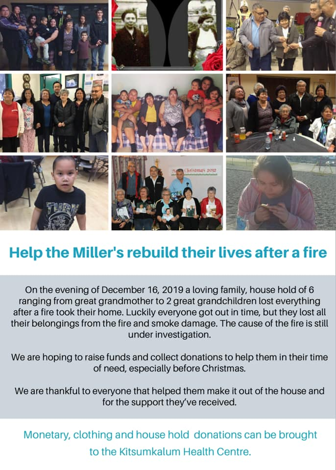 Help the Miller's Rebuild Their Lives After a Fire