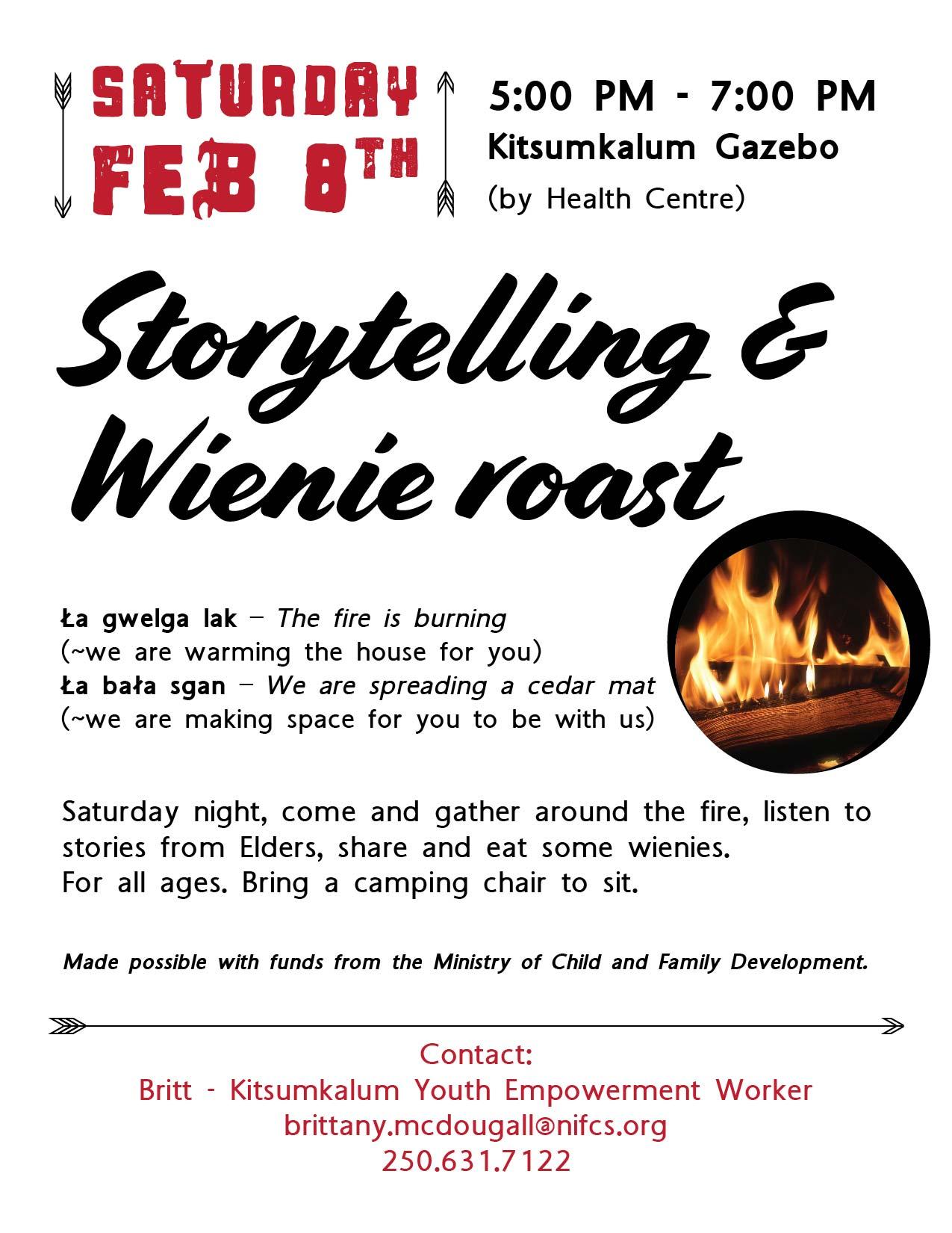 Kitsumkalum Storytelling and Wienie Roast FEB 8