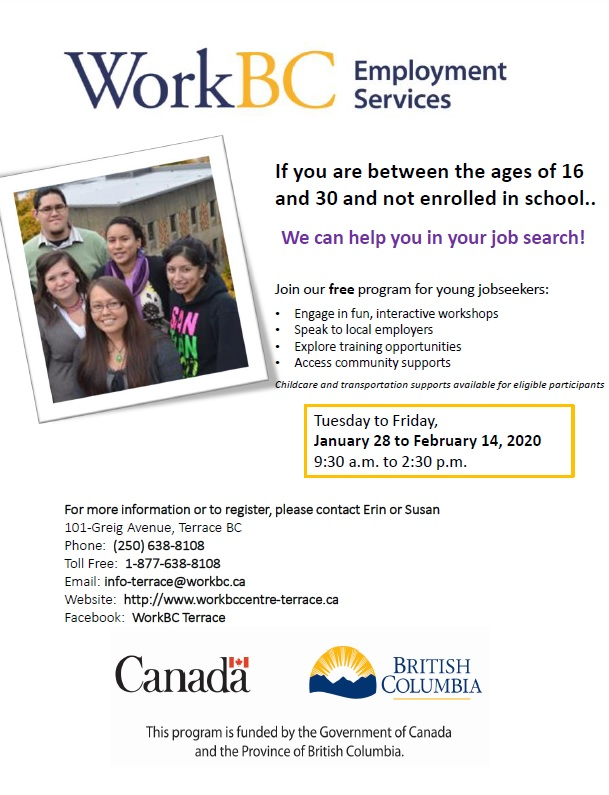 WorkBC Employment Services for Youth 16 to 30