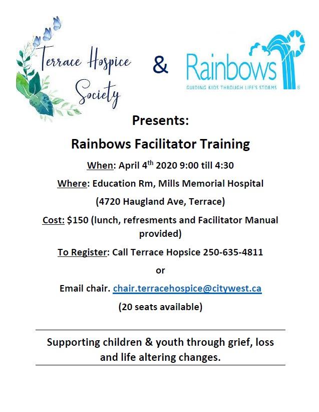 Rainbows Facilitator Training April 4th