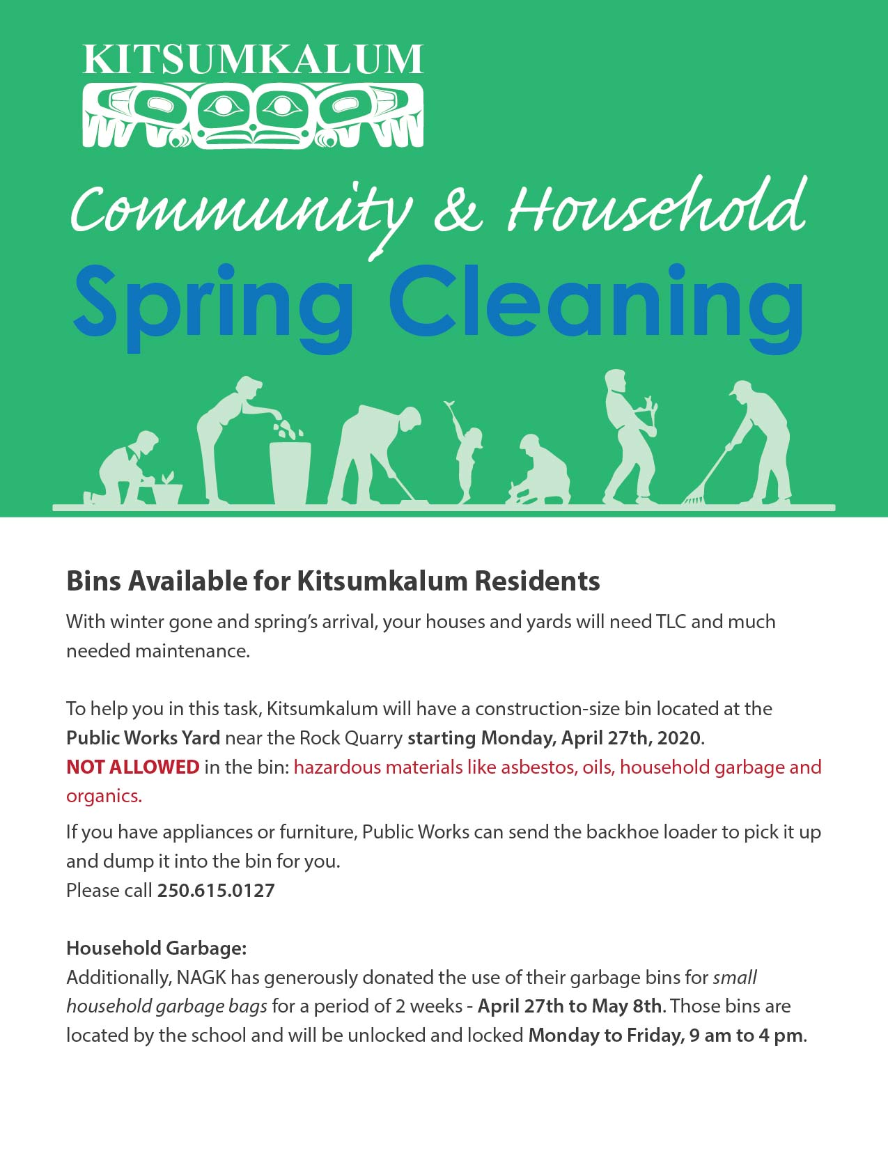 Community & Household Spring Cleaning – Bins for Residents