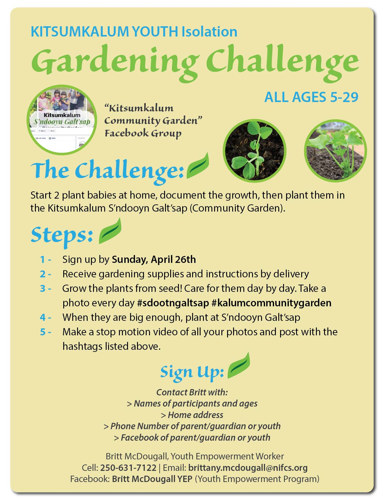 Kitsumkalum Youth Gardening Challenge