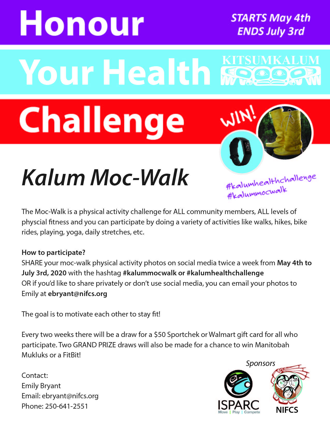 Honour Your Health Challenge Kitsumkalum