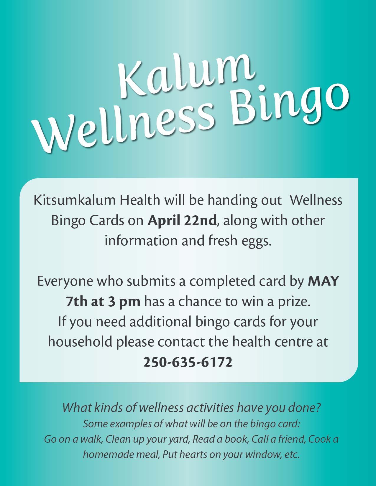 Kalum Wellness Bingo