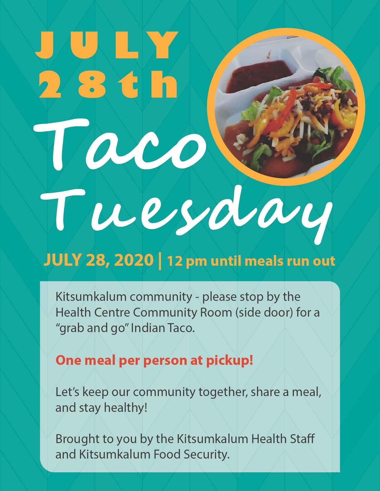Taco Tuesday JULY 28th