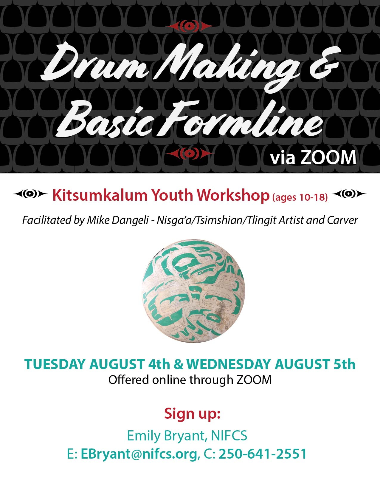 Drum Making for Youth August 4th and 5th