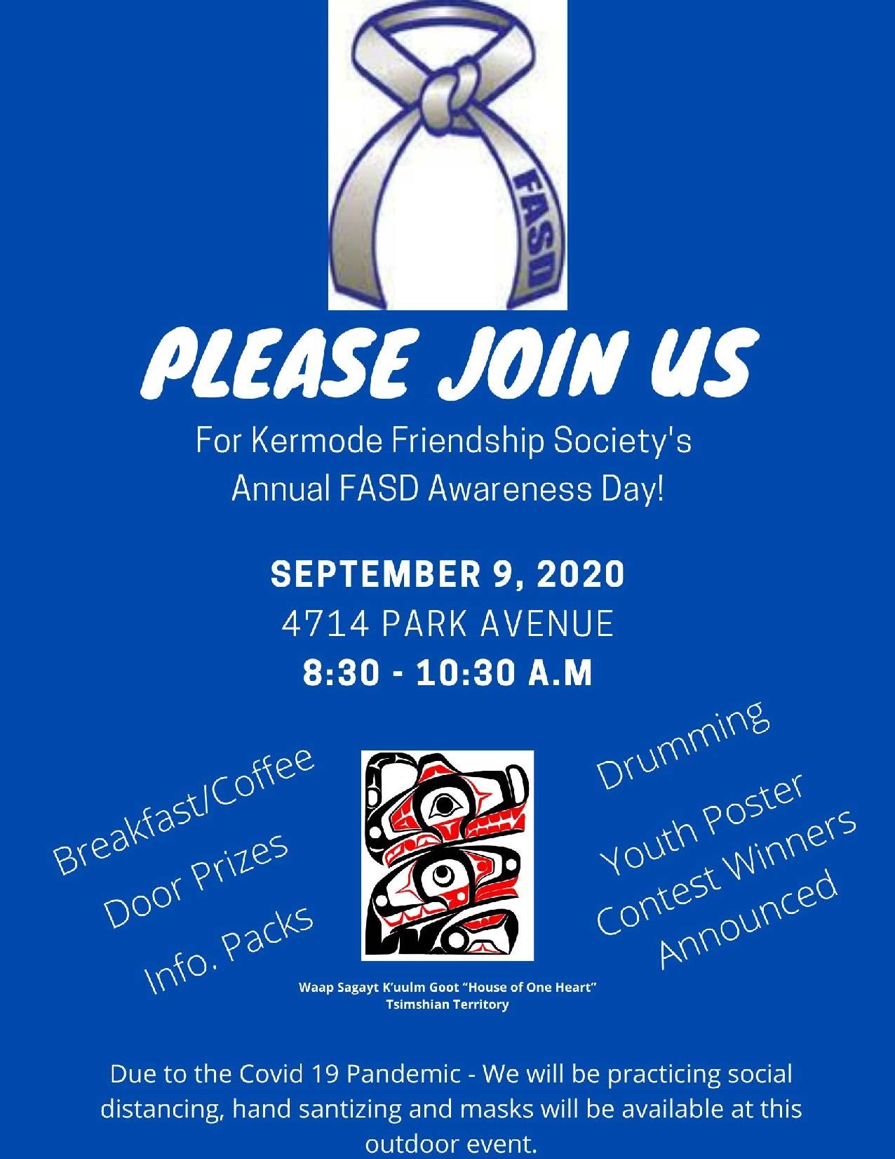 Annual FASD Awareness Day – September 9 – Kermode Friendship Society