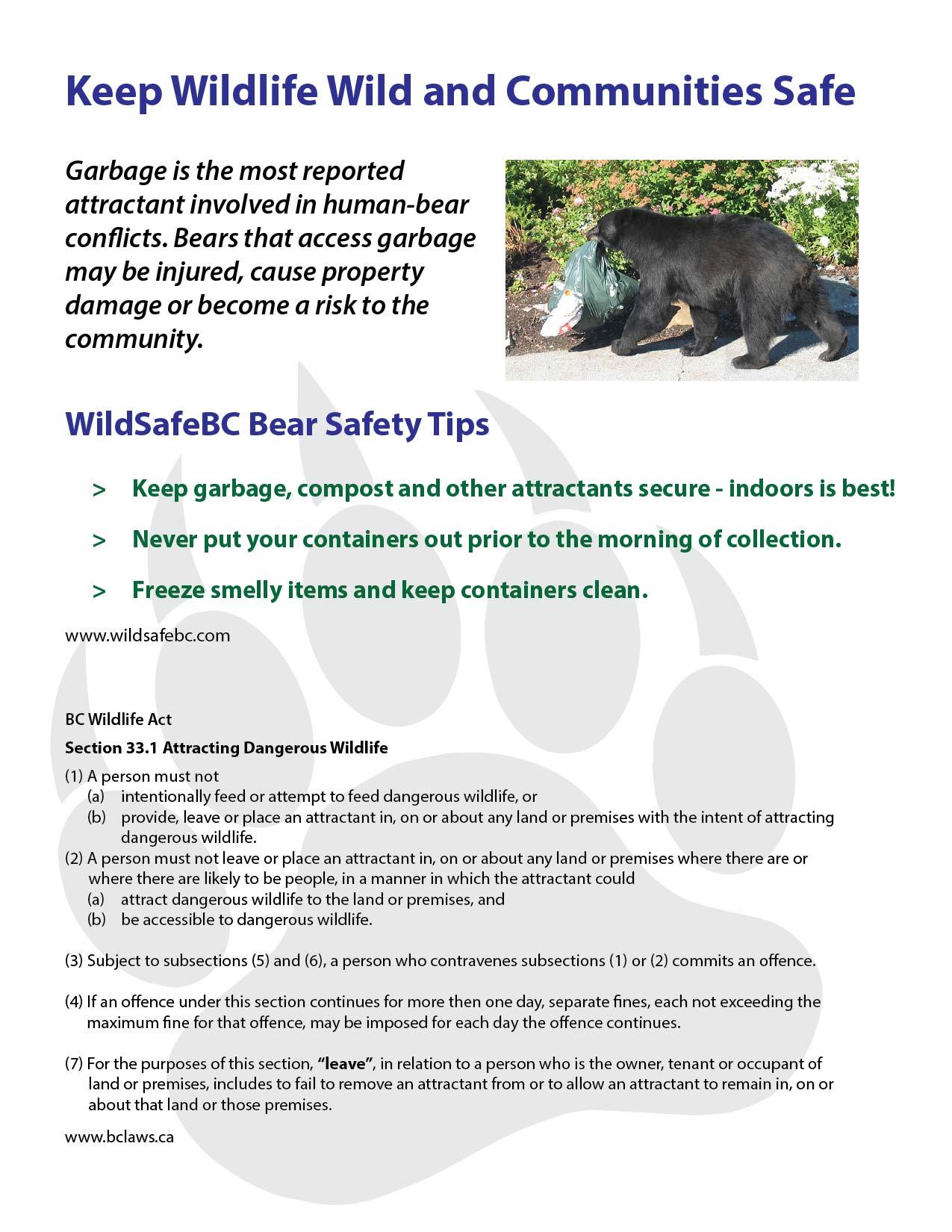 Keep Wildlife Wild and Communities Safe