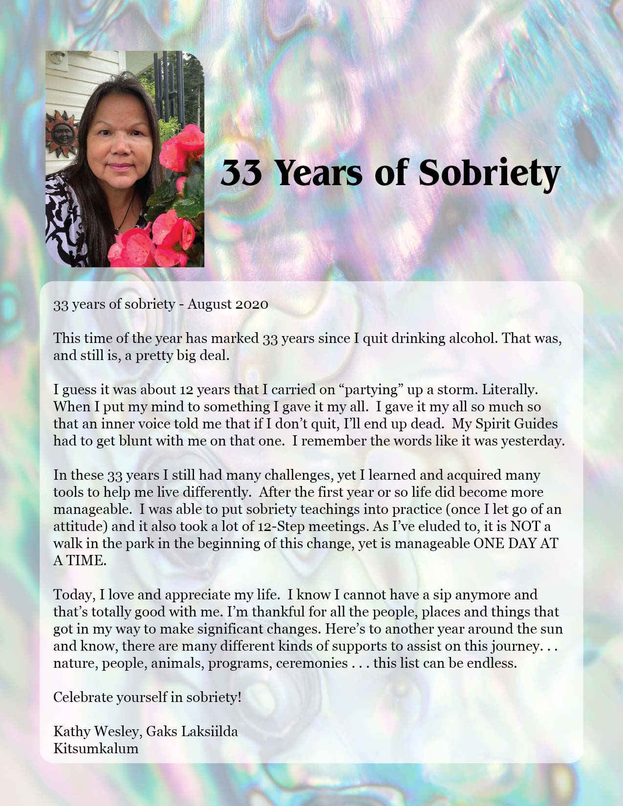 33 Years of Sobriety