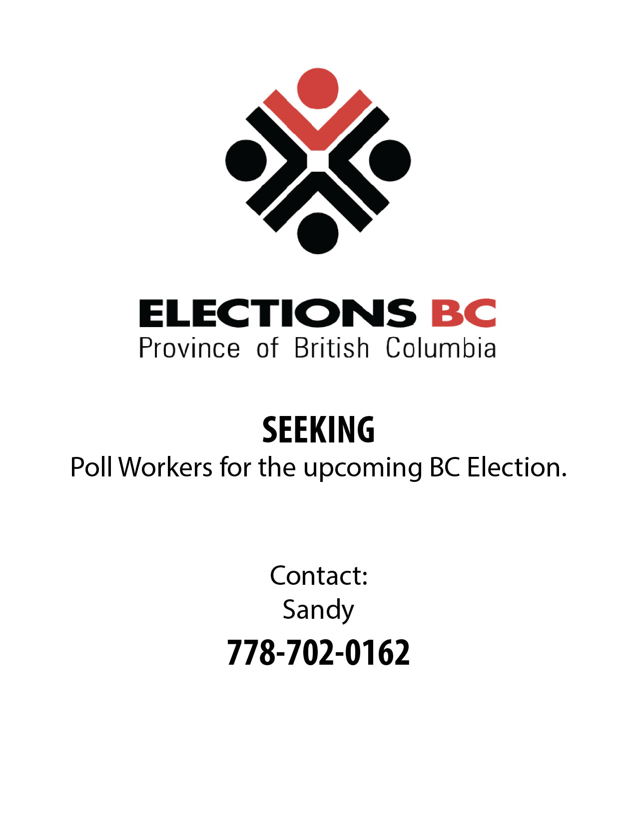 Elections BC Seeking Poll Workers