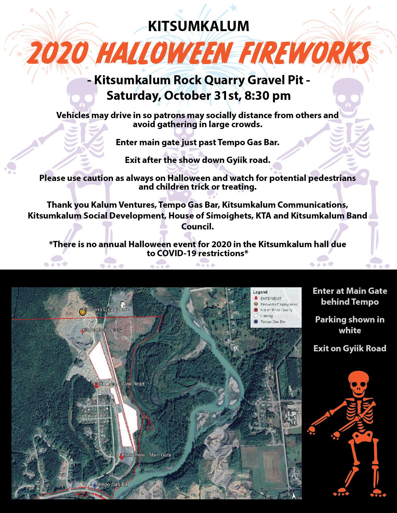 Kitsumkalum 2020 Halloween Fireworks