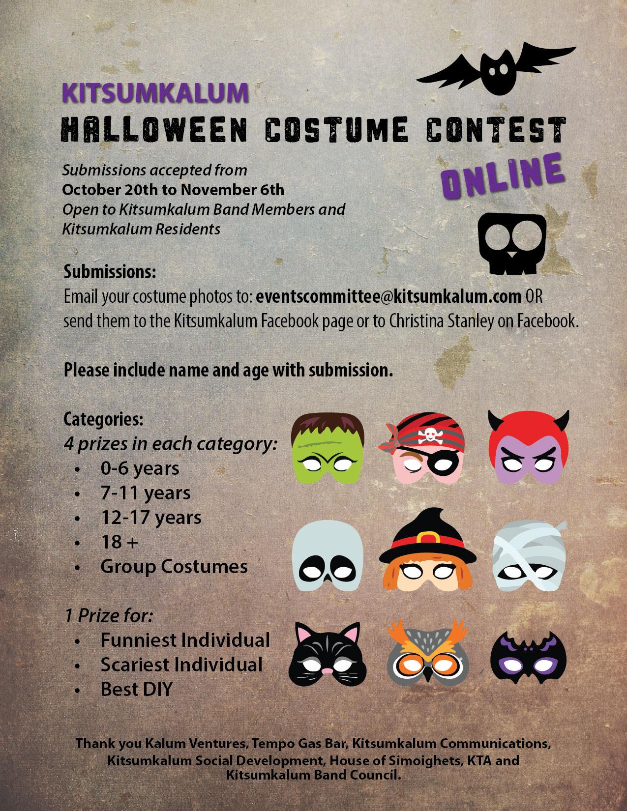 Kitsumkalum Halloween Costume Contest – Online