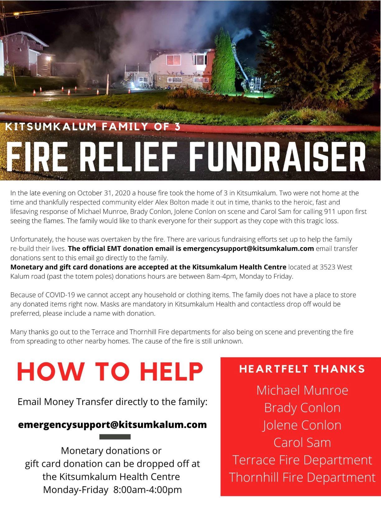Fire Relief Fundraiser