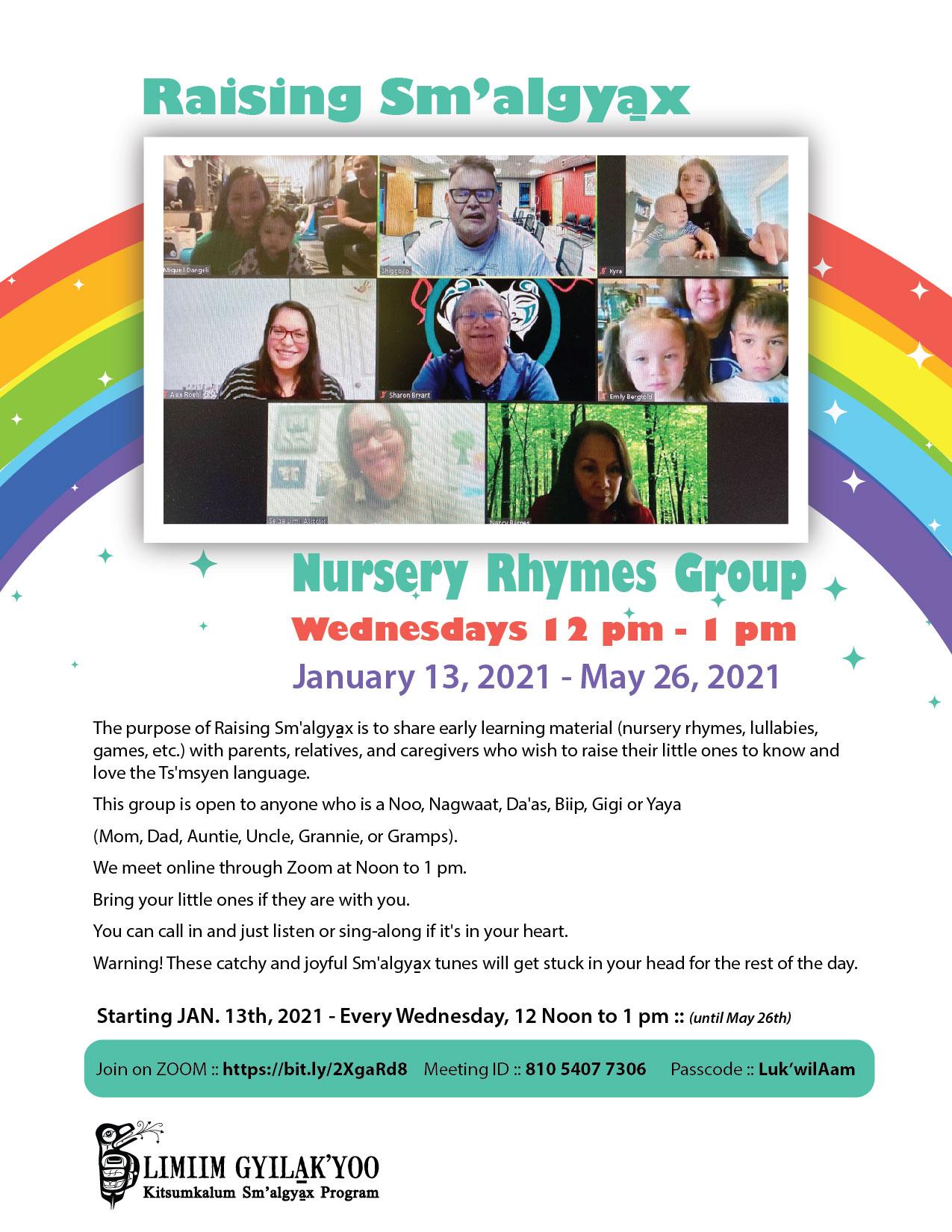 Raising Sm'algya̱x – Nursery Rhymes Group – Wednesdays