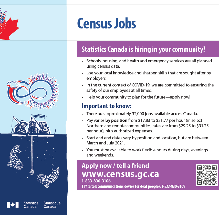 APPLY TODAY! Canada Census jobs – Work from Home