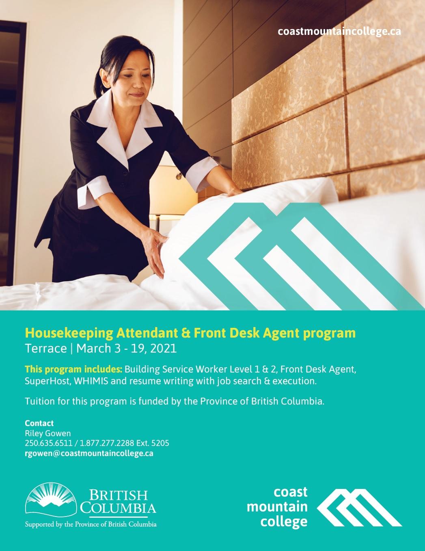 Housekeeping Attendant & Front Desk Agent Program CMC