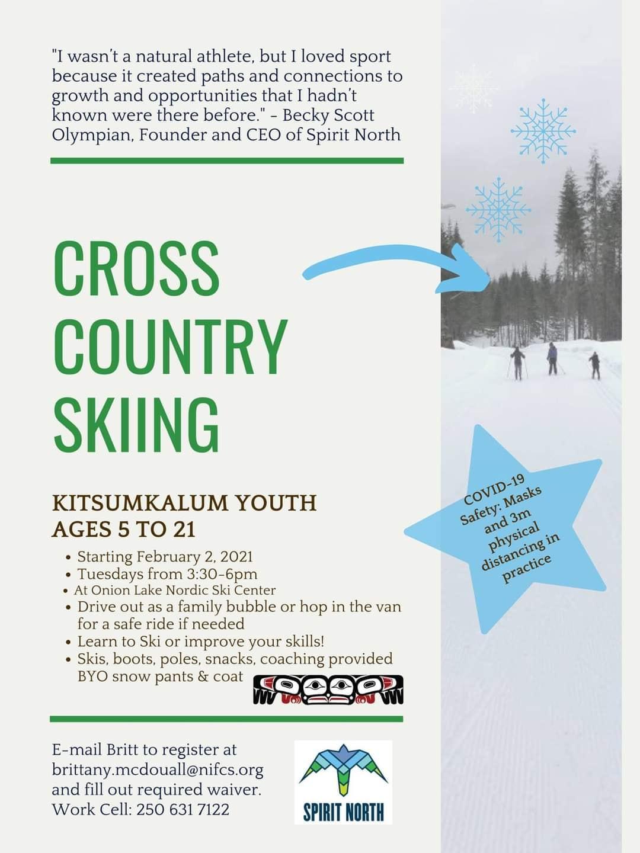 Cross Country Skiing for Kitsumkalum Youth
