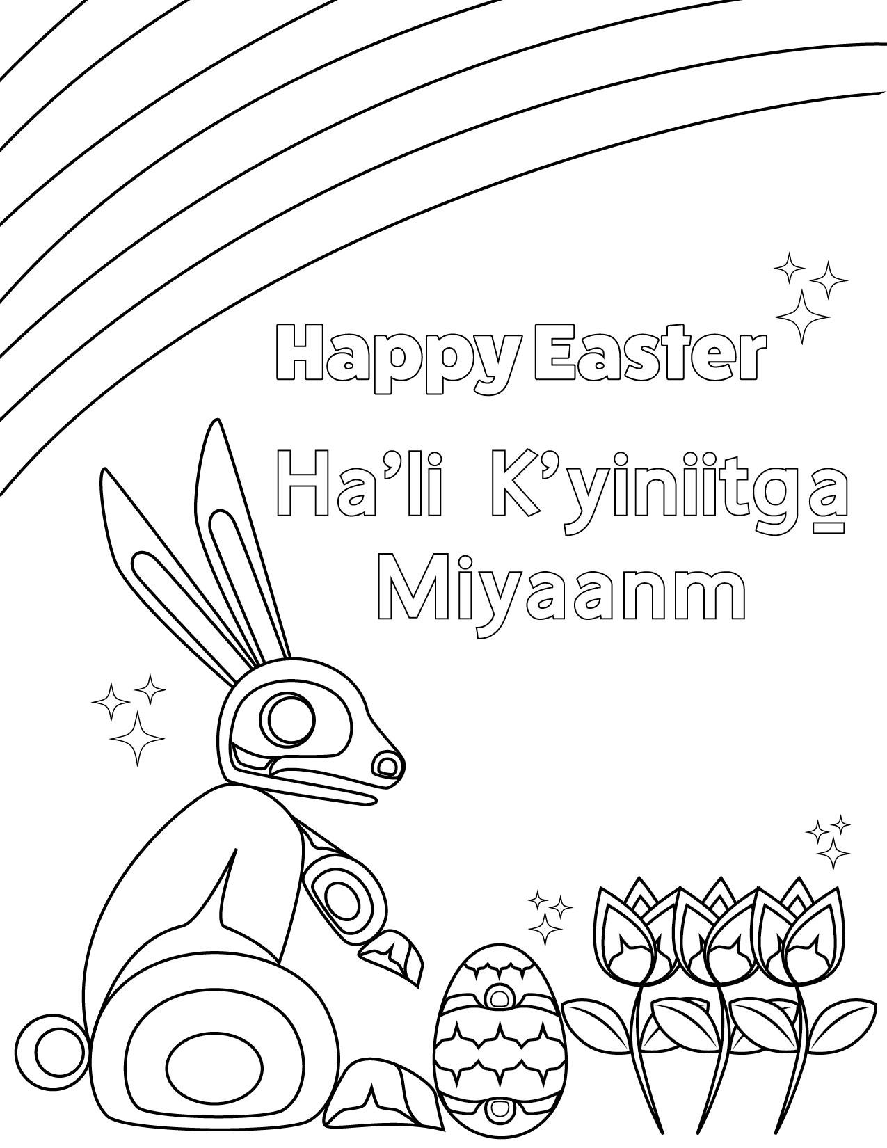 Kitsumkalum Easter Colouring Contest