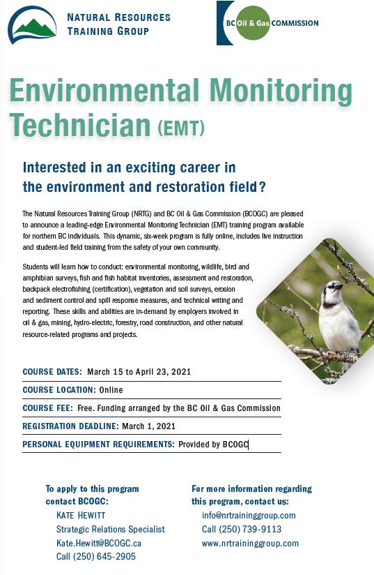 FREE Environmental Monitoring Technician Training – Apply TODAY