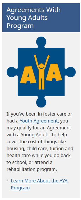 Help available for young adults who have transitioned to adulthood from government care