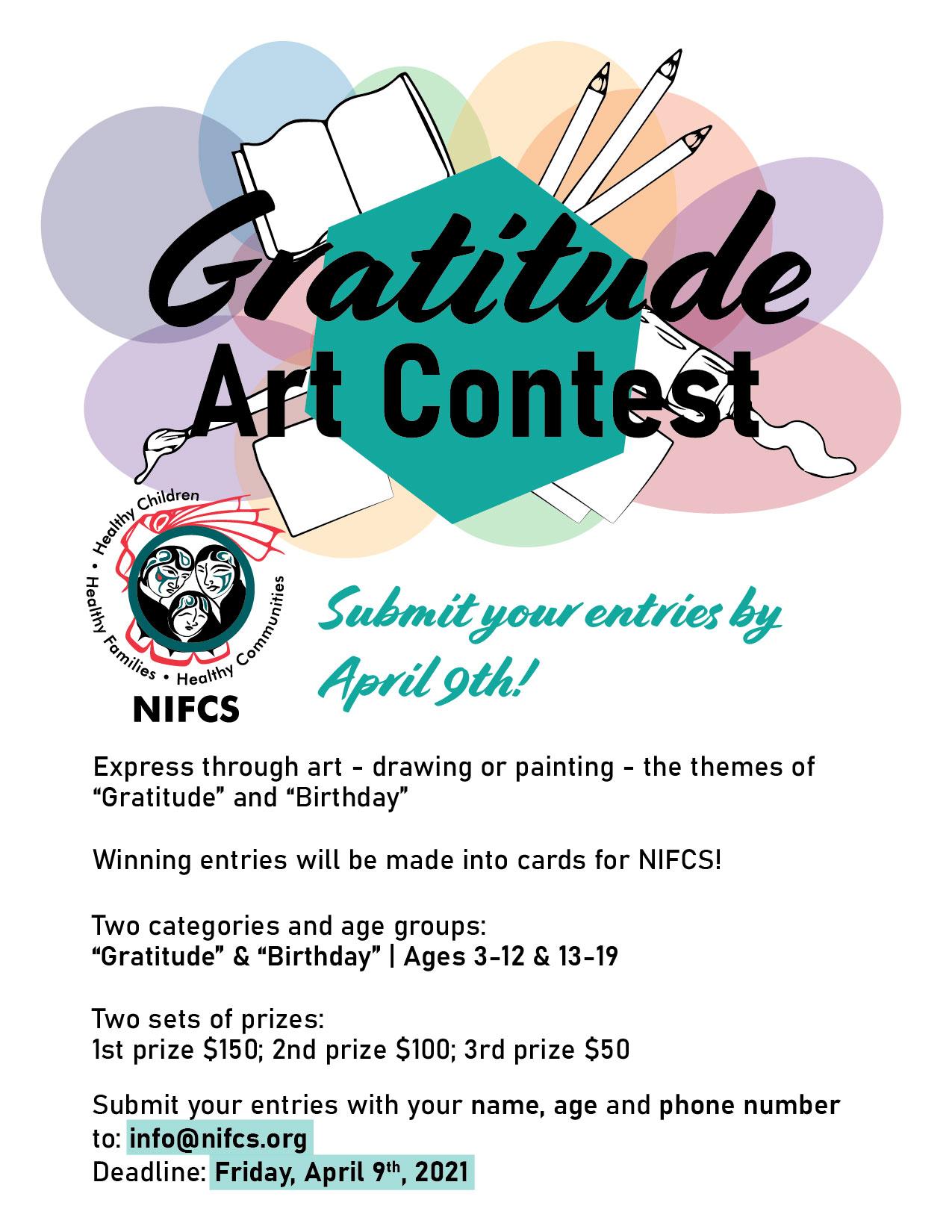 Attitude of Gratitude Art Contest with NIFCS