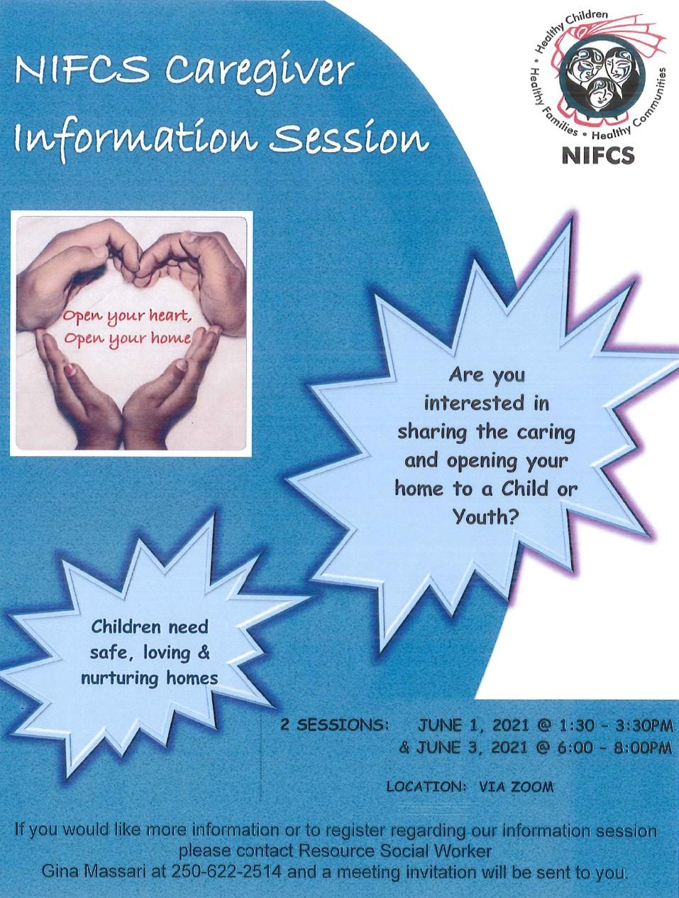 NIFCS Caregiver Information Sessions