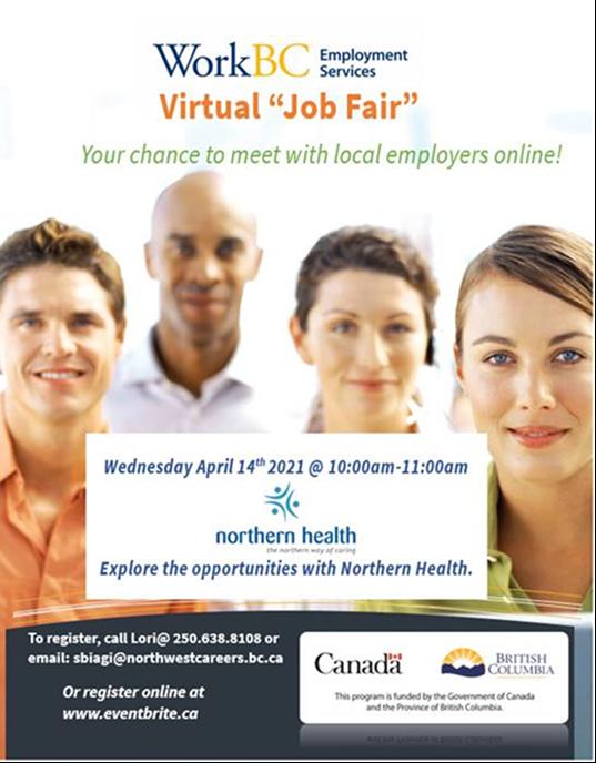 Northern Health Virtual Job Fair APRIL 14