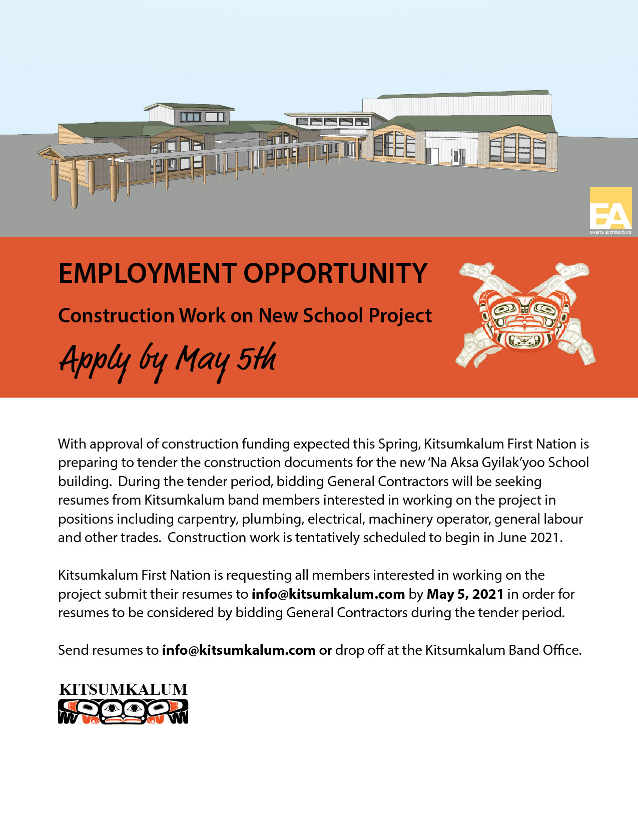 New School Project – Employment Opportunity