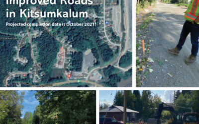 Halfway to Improved Roads in Kitsumkalum!