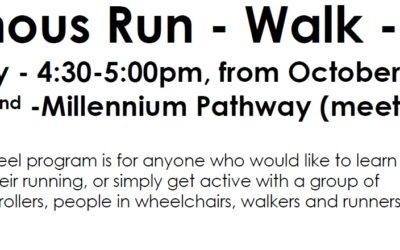 Indigenous Run – Walk – Wheel on Mondays – Community Invitation to Participate